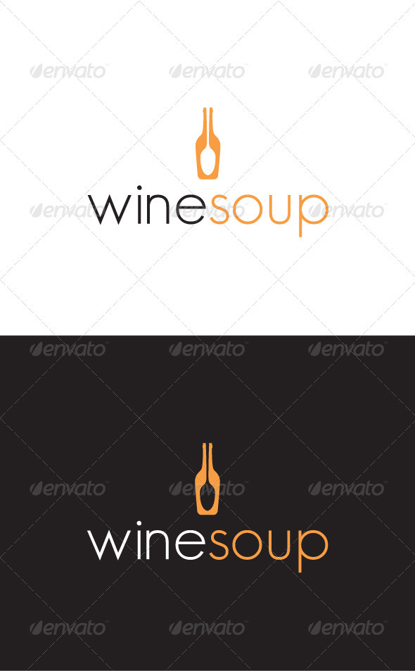 Winesoup Logo - Food Logo Templates