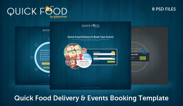 Quick Food Delivery PSD Template