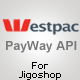 PayWay API (Westpac) Jigoshop کے لئے گیٹ وے