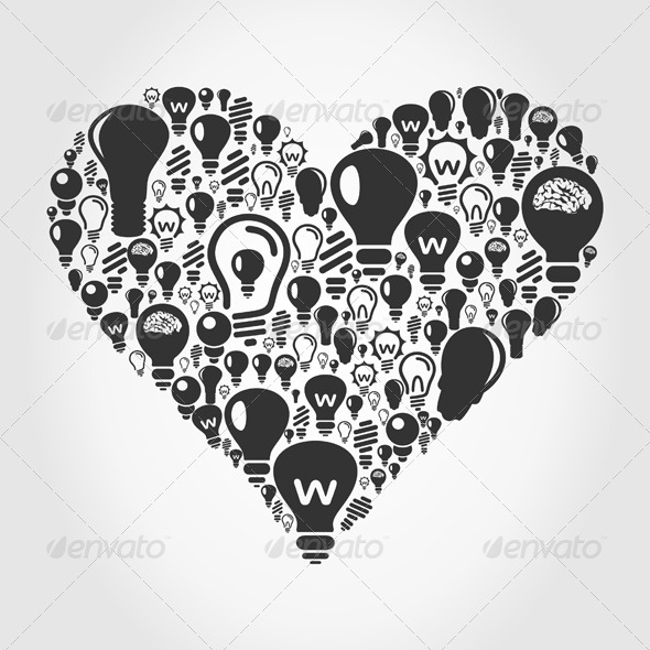 GraphicRiver Bulb Heart 3592462