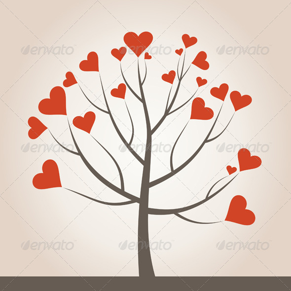GraphicRiver Love Tree 3592541