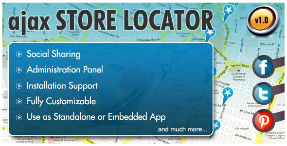 AJAX Store Locator - WorldWideScripts.net Item for Sale