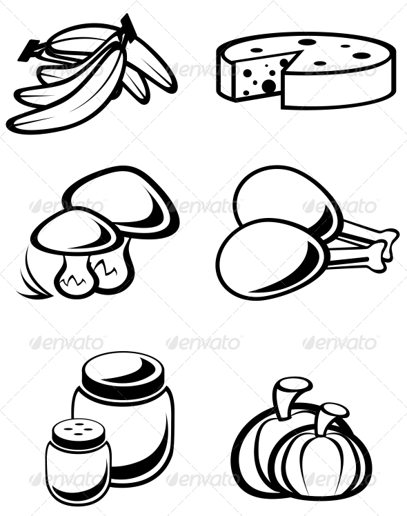 GraphicRiver Food Symbols 3594994