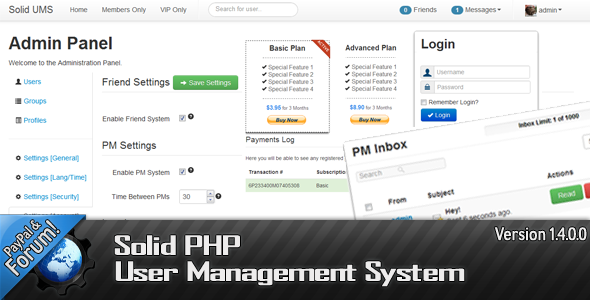 CodeCanyon Solid PHP User Management System 1254295