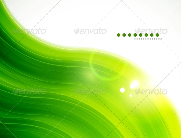 GraphicRiver Light Glittering Green Wave Background 3595115