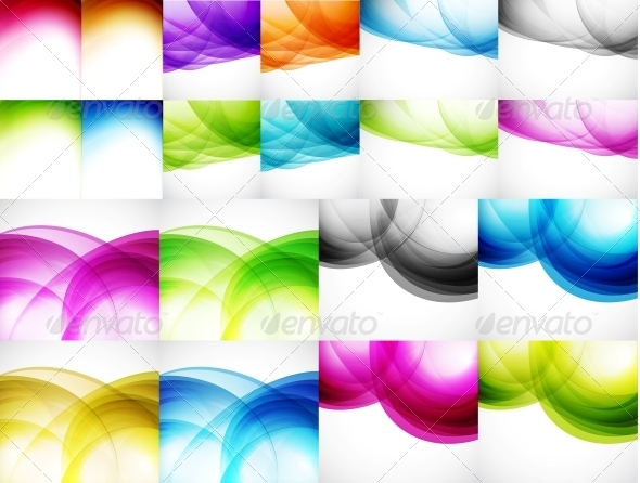 GraphicRiver Wave Color Backgrounds 3595370