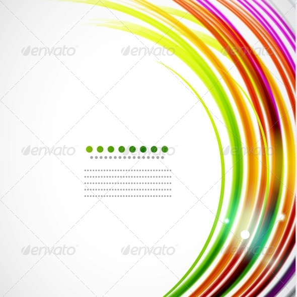GraphicRiver Colorful Wavy Lines 3595391
