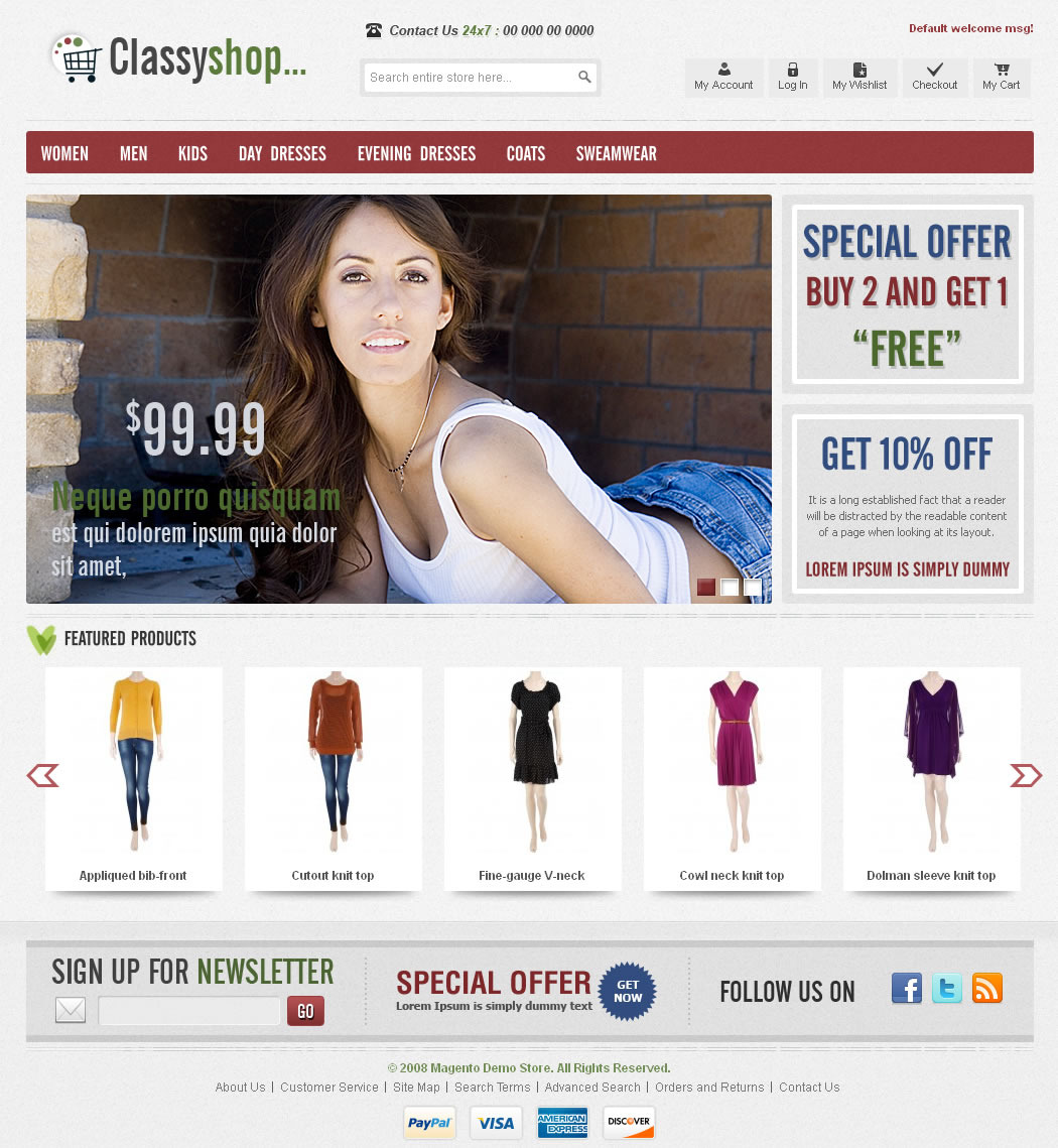 ClassiShop Magento Template