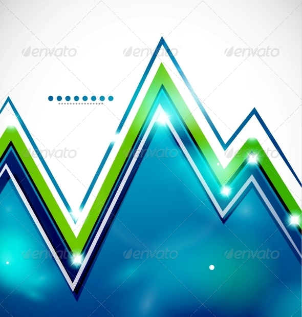 GraphicRiver Zig-Zag Bright Background with Lights 3595667
