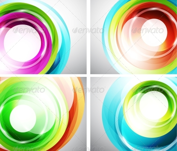 GraphicRiver Colorful Swirl Background Set 3595742