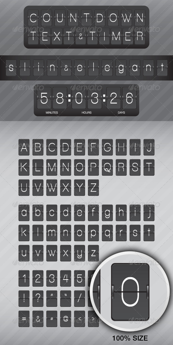 Countdown Text and Timer 3 - Objects Vectors