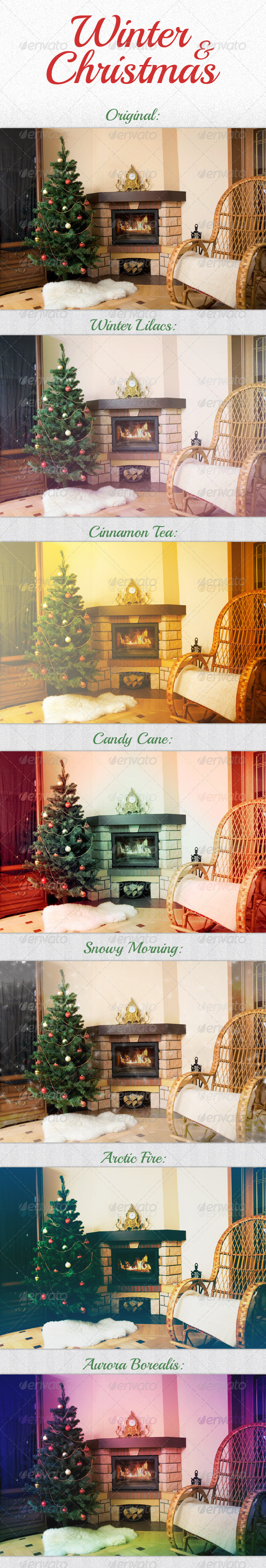 GraphicRiver Winter & Christmas Actions 3559030