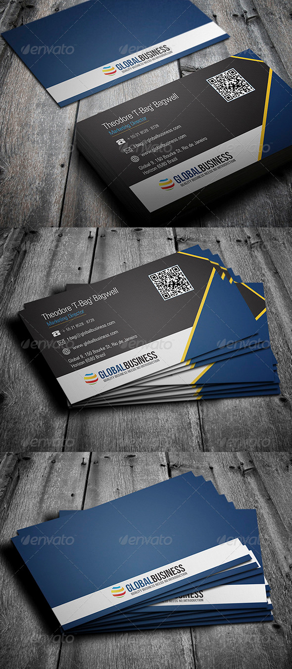 GraphicRiver Corporate Business Card 31 3596509