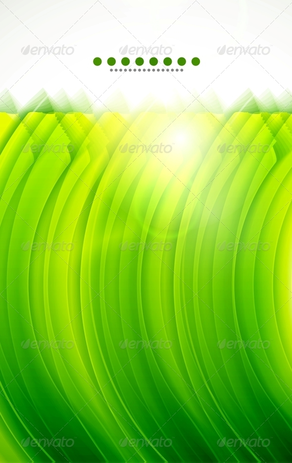 GraphicRiver Light Glittering Green Wave Background 3596676