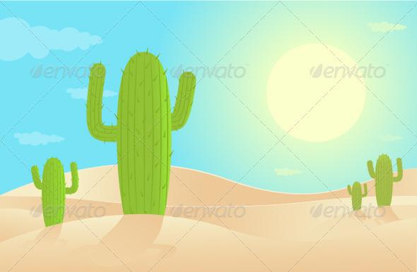 GraphicRiver Desert Landscape 3596779