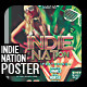 Indie Nation Flyer - Poster - GraphicRiver Item for Sale