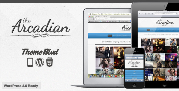 The Arcadian Responsive WordPress Theme - Portfolio Creative