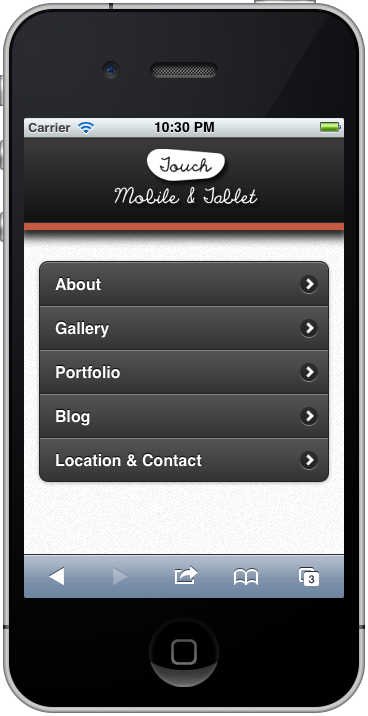 Touch Mobile & Tablet Wordpress Theme