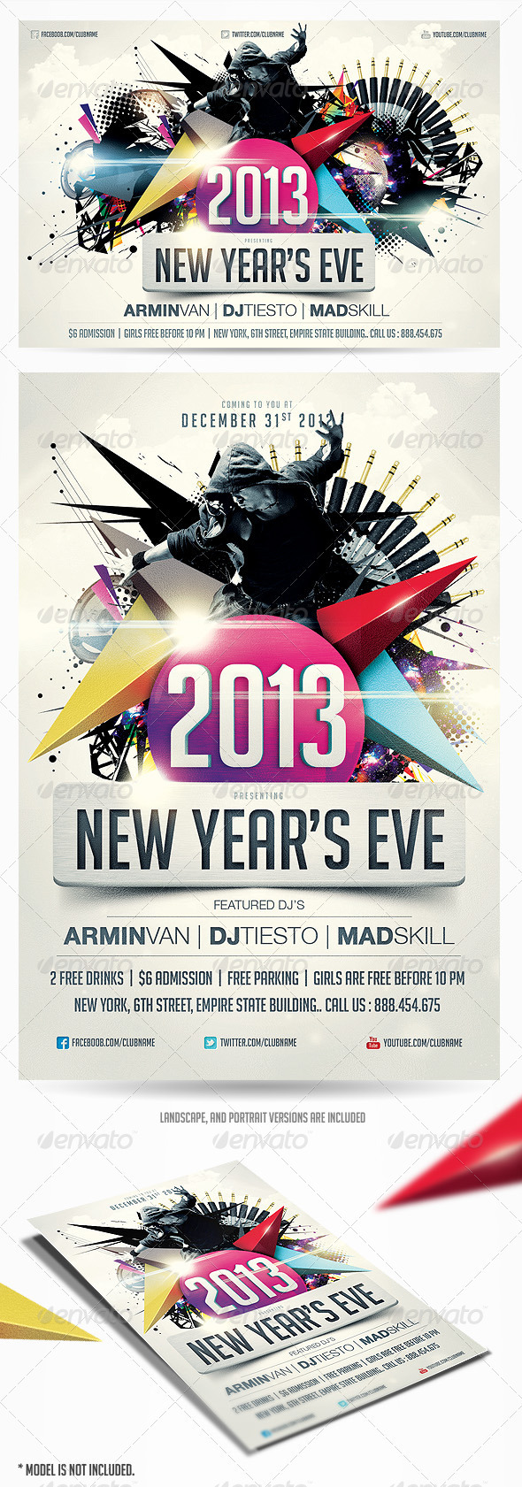 2013 New Years Eve Party Flyer Vol.2 - Clubs & Parties Events