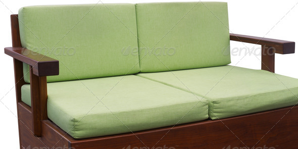 Green couch - Stock Photo - Images
