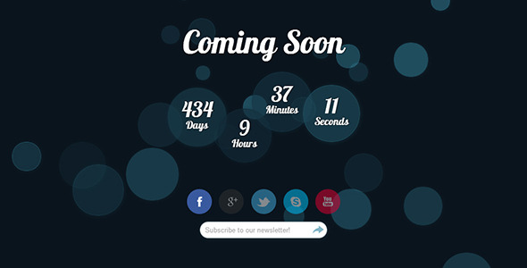 Ridel - Animated Coming Soon HTML Template
