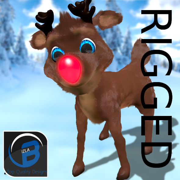 3DOcean Rudolph The Red Nosed Reindeer 3603088