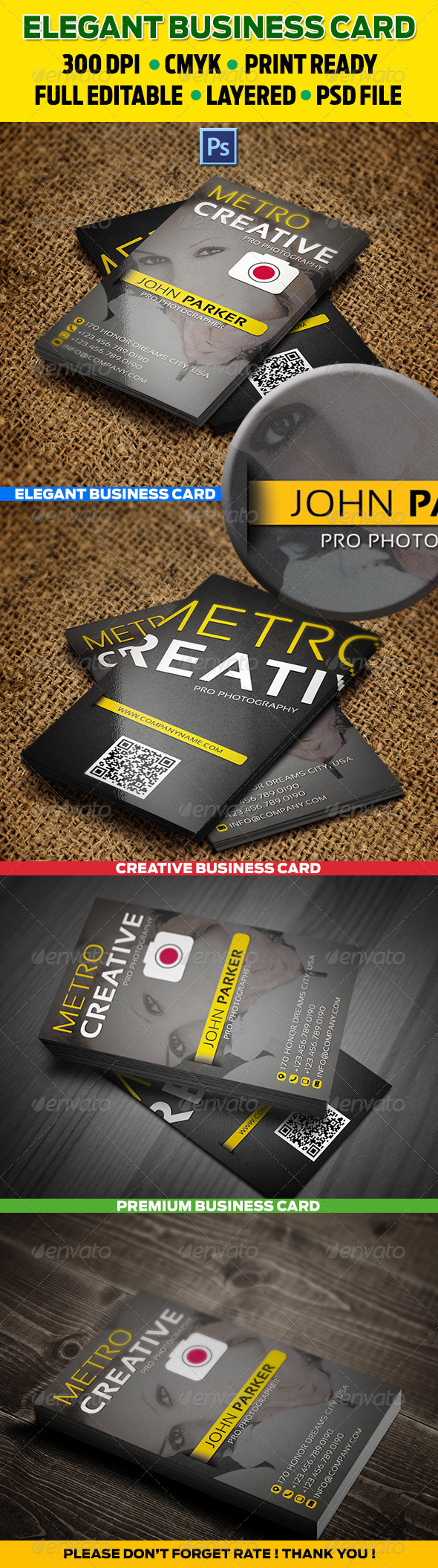 GraphicRiver Creative Pro Photographer Card 26 3603215
