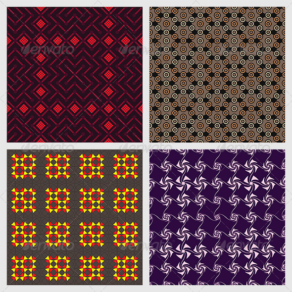 Abstract Seamless Patterns - Textures / Fills / Patterns Illustrator