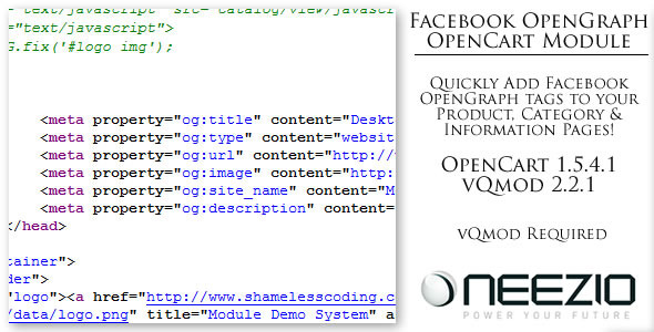 CodeCanyon Facebook OpenGraph Module for OpenCart vQmod 3604663