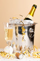 Champagne ice bucket and glass - PhotoDune Item for Sale