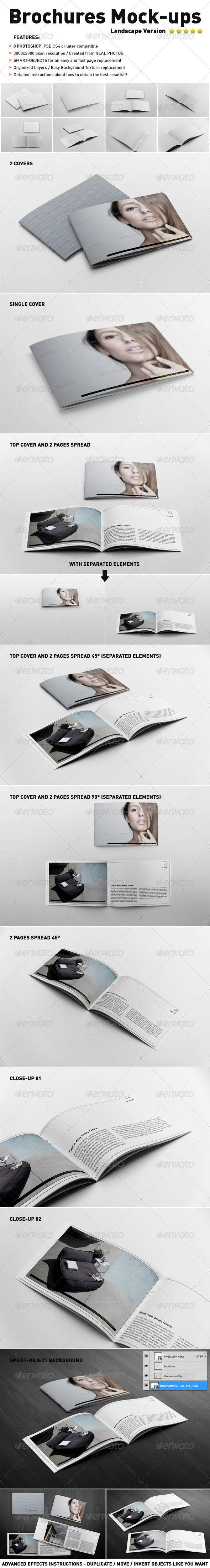 GraphicRiver Photorealistic Landscape Brochure Mock-ups 3607653