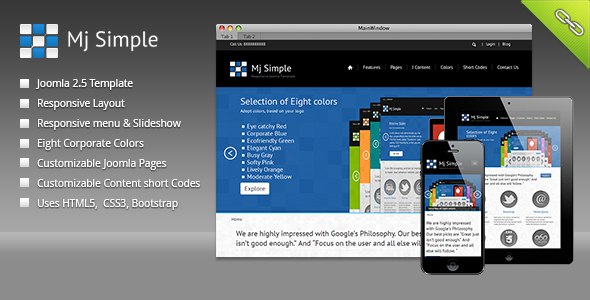 ThemeForest Mj Simple Responsive Joomla Template CMS Themes Joomla 3611063