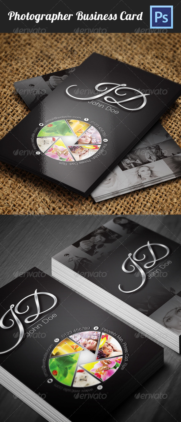GraphicRiver Photographer Business Card 3611081
