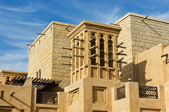 Wind towers the traditional arabic architecture stock for Modern arabic house architecture