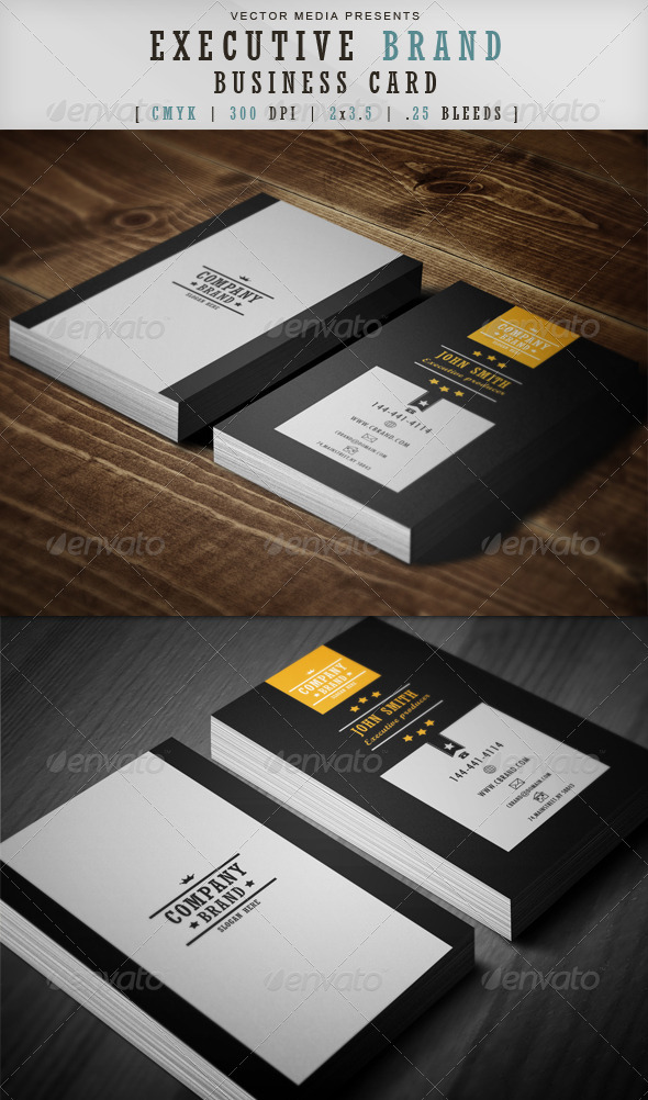 Executive Brand - Business Card - Corporate Business Cards