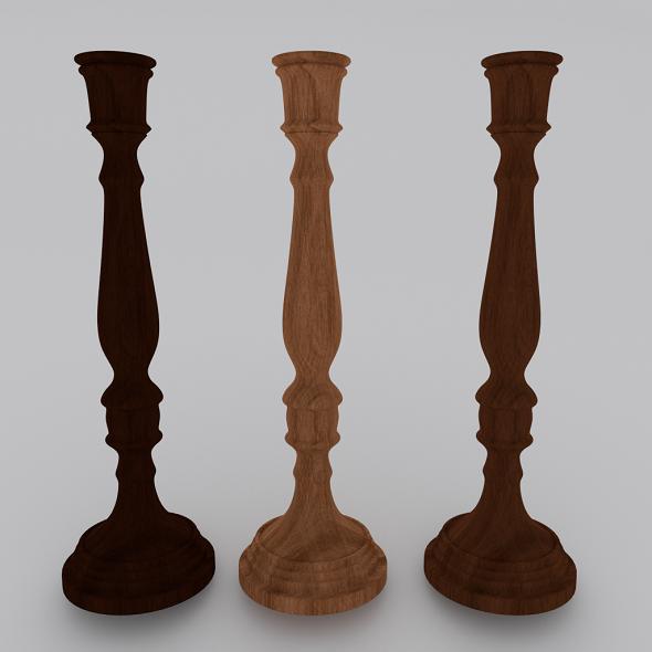 3DOcean Wood Candlestick 3594947