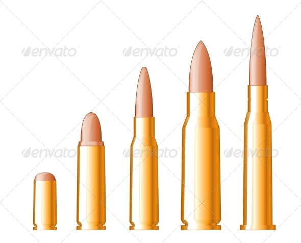 GraphicRiver Set of Bullets 3612347