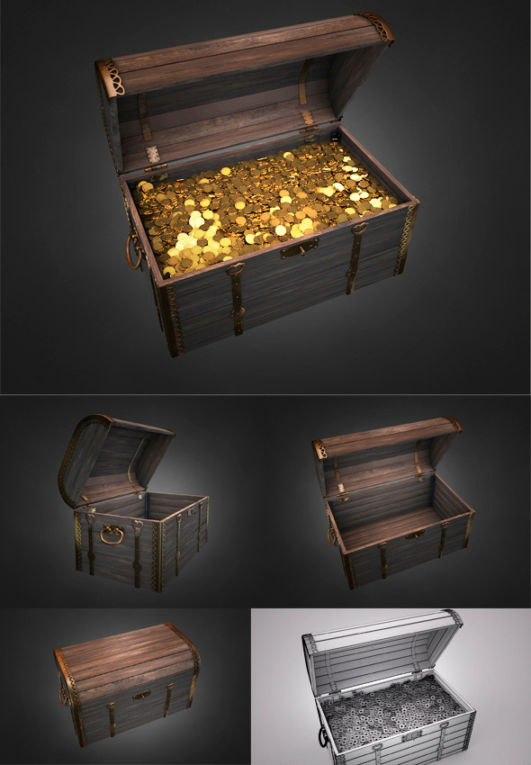 3DOcean Old Treasure Chest 3611071