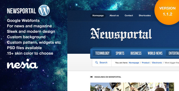 ThemeForest Newsportal Responsive News and Magazine Theme 3163949