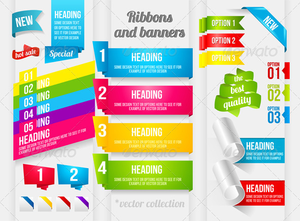 GraphicRiver Ribbon and Banner Collection 3521886