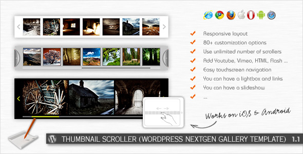 CodeCanyon Thumbnail Scroller WP NextGEN Gallery Template 2528167
