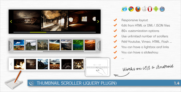 CodeCanyon Thumbnail Scroller jQuery Plugin 168867