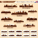 City Skyline Set. 10 cities of Great Britain #1 - GraphicRiver Item for Sale