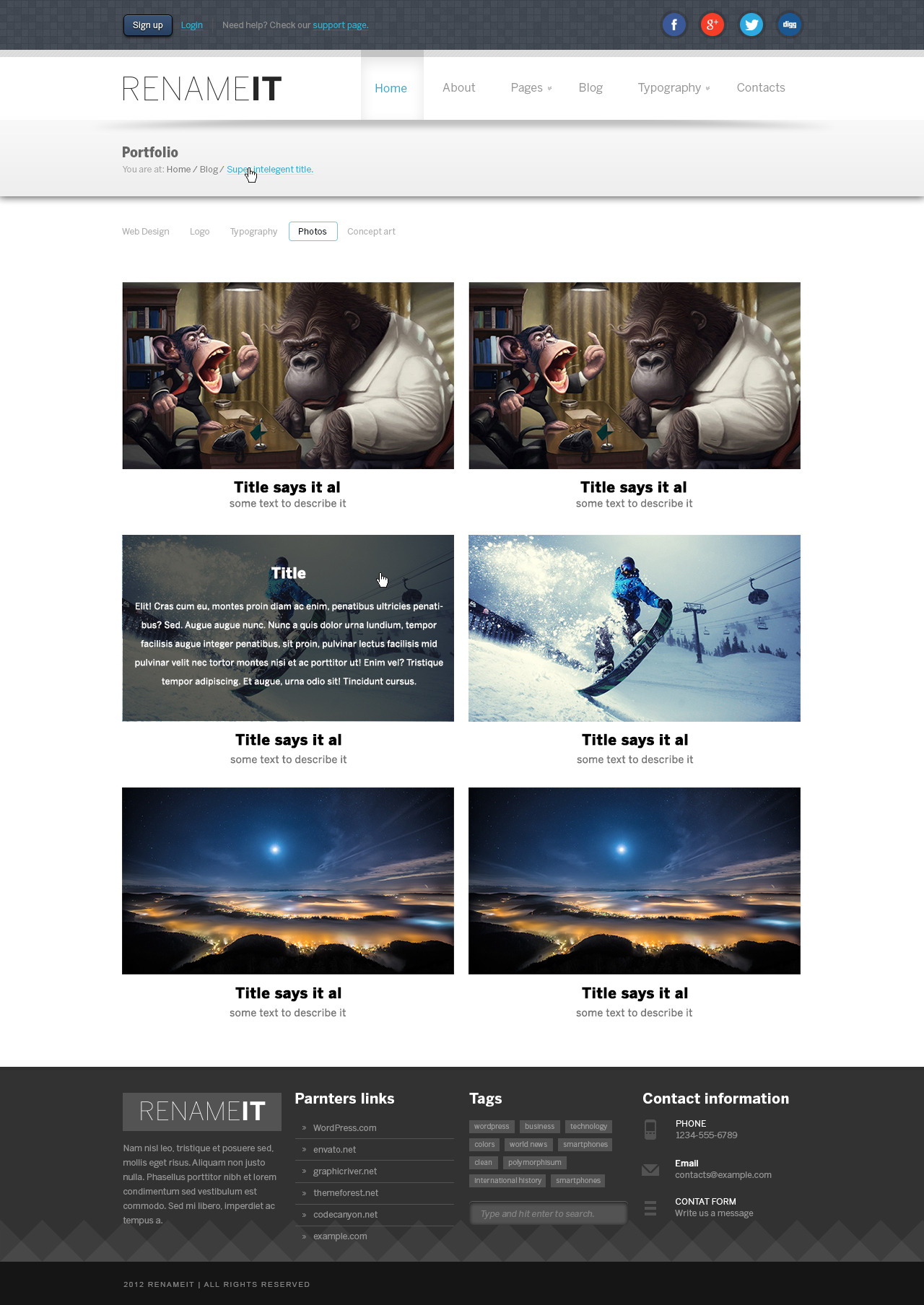 Renameit - Light PSD Template