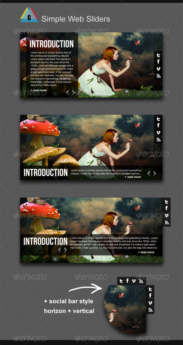 GraphicRiver Gstudio Simple Web Sliders 3574890