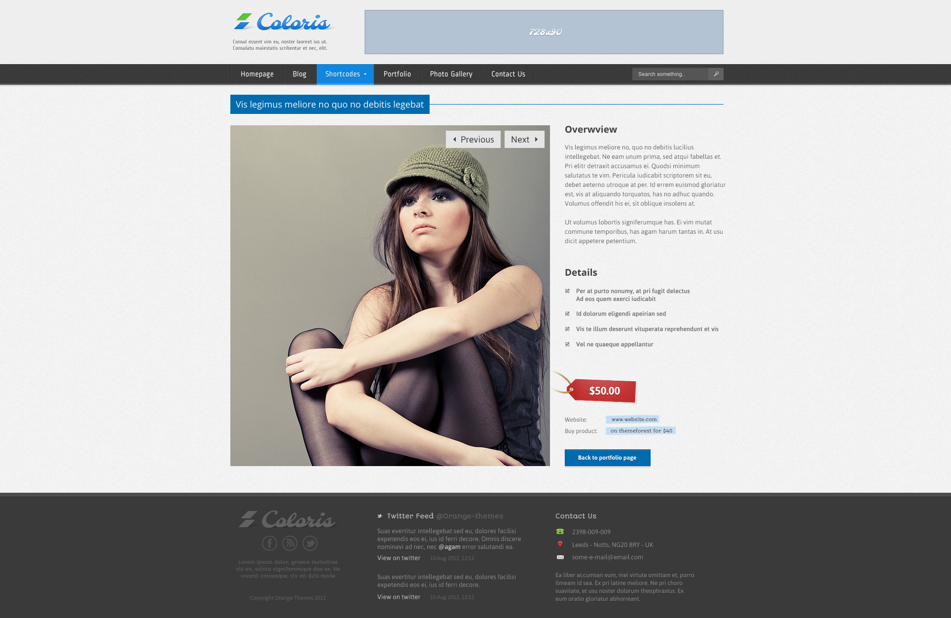 Coloris - Responsive News and Magazine Template