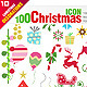 100 Christmas Icons - GraphicRiver Item for Sale