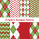 Christmas Argyle Chevron Patterns in Red and Green - GraphicRiver Item for Sale
