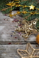 Golden Christmas ornaments - PhotoDune Item for Sale