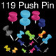 84 Push Pins - GraphicRiver Item for Sale